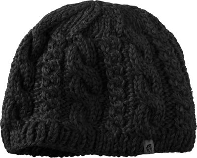The thick weave of this stylish, cold-weather hat is a blend of 50% wool, 40% acrylic and 10% alpaca. The lining offers a microfleece ear band for extra warmth. One size fits most. Imported. Colors: Vaporous Grey, TNF Black, Weimaraner Brown. - $19.88