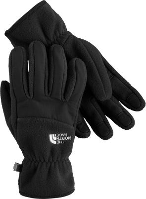 Updated with a better fit and top-quality fleece, these gloves share the same classic style and contrasting fabrics as the popular TNF Denali Jacket. A womens-specific 5 Dimensional Fit with Radiametric Articulation offers natural dexterity, improved grip and close-fitting comfort. Nylon Taslan overlays on the knuckles and fingers offer wear-resistant durability. Thick, 300-weight 100% polyester fleece keeps hands warm. Polyurethane gripper palms. Elastic wrists. Imported.Sizes: S-L.Colors: TNF Black, TNF White, White/Metallic Sliver (not shown), Baroque Purple (not shown). Type: Gloves. Size: Small. Color: Tnf Black. Size Small. Color Tnf Black. - $26.88