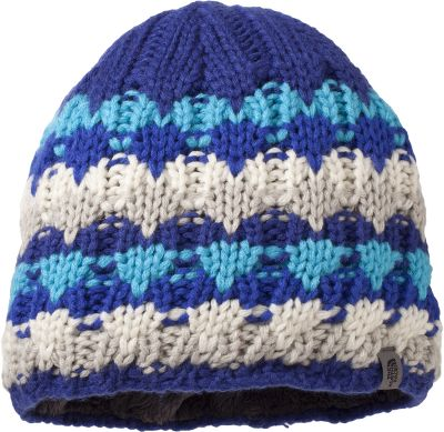 Pure winter style is knit right into this super-comfortable hat. Made of 100% acrylic with a 100% polyester microfleece lining for maximum heat retention. One size fits most. Imported. Colors: Premiere Purple (not shown), Kodiak Blue, Bolt Blue, Leopard Yellow. - $12.88