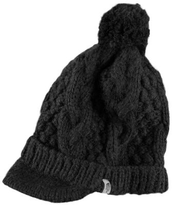 A soft, fun and warm winter cap with a fashionable slouchy fit and visor. A pom-pom on the top is a playful accent. 100% acrylic construction. One size fits most. Imported. Colors: Moonlight Ivory, Bittersweet Brown, TNF Black. - $17.88