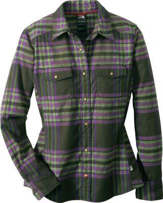 An ideal match for jeans and casualwear, the technical flannel fabric incorporates CoolVisions polypropylene for moisture-resistant toughness and abrasion resistance. Pearl snaps. Two front pockets. UPF rating of 50. Made of 55/45 cotton/CoolVisions polypropylene. Imported. Sizes: S-XL. Colors: Fissure Green, Squid Red, Vintage White, Fig Green. - $9.88