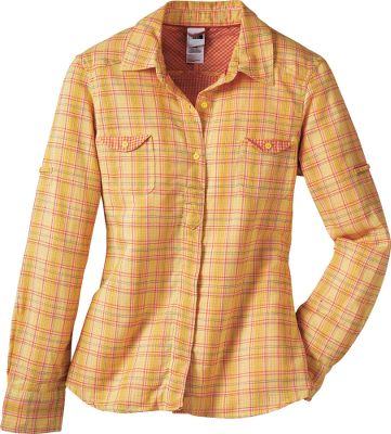 Unique double-weave, 74/26 cotton/polypropylene blend has a UPF rating of 30 and double chest pockets with contrast pattern detail. 1/2-hidden placket. Machine washable. Imported. Sizes: S-XL.Colors: Bonnie Blue, Mayan Yellow, Vaporous Grey. - $34.88