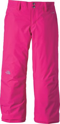 Waterproof, breathable and warm pants designed for active girls. Articulated knees and a half-elastic waistband with Velcro tab adjustment ensure free movement, and 60-gram Heatseeker Aero insulation offers ample heat-retaining warmth. The shell is fully seam-sealed and waterproof HyVent 2L polyester with smooth nylon lining. Zippered handwarmer pockets. Reinforced edges at the ankle. Grow cuffs at leg openings allow the pants to last longer as your girl grows. Snap-front closure. Belt loops. Gaiter with gripper elastic. Embroidered logo at knee. Imported.Inseam: 23 to 25.Sizes: XS-XL.Colors: TNF Black, Razzle Pink. Type: Pants. Size: X-Large. Color: Razzle Pink. Size Xl. Color Razzle Pink. - $68.88