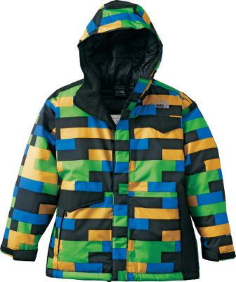 The stylish, contrasting print and solid color blocking makes this coat right at home in the park or the pipe. Fully-sealed seams keep the moisture out. HyVent fabric is waterproof and breathable to deliver comfortable wear all day long. 250-gram Heatseeker Aero insulation runs through the entire body, including the fixed hood, for ultimate warmth without extra bulk. An adjustable drawcord in the bottom hem and adjustable cuffs with Velcro closures customize the fit to your childs body. A hidden internal pocket holds his cell phone or media device External zippered handwarmer pockets provide extra storage. 100% polyester shell. 100% nylon lining. Imported. Center back length: 24. Sizes: XS-XL. Colors: TNF Black Print, Deep Water BluePrint, Fiery Red Print, Leopard Yellow Print. Type: Jackets. Size: Large. Color: Deep Water Blue Prnt. Size Large. Color Deep Water Blue Prnt. - $99.88
