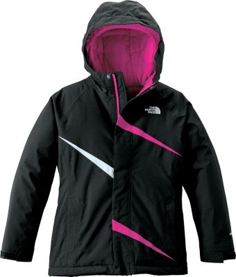 You wont worry about your girl heading outside for winter play when shes protected by this jacket. Waterproof, breathable and generously insulated with complete head coverage, its just the thing for blustery snowy days. The seam-sealed shell is waterproof HyVent 2L 100% polyester plain weave lined with taffeta nylon to slip over layers underneath. With 160-gram Heatseeker Aero insulation in the sleeves and 200-gram in the torso, you neednt be concerned about your playful little gal getting too cold. A fixed, full-coverage hood and zippered handwarmer pockets provide additional protection from the elements. An adjustable drawcord at the hem and adjustable cuffs make sure cold and snow stay out. Convenience features include an internal media pocket, glove clip, goggle cloth and key clip. Embroidered logo on left chest. ID label. Imported.Center back length: 23.5. Sizes: XS-XL.Colors: Teaberry Pink, Premiere Purple, TNF Black. Type: Jackets. Size: X-Large. Color: Teaberry Pink. Size Xl. Color Teaberry Pink. - $109.88