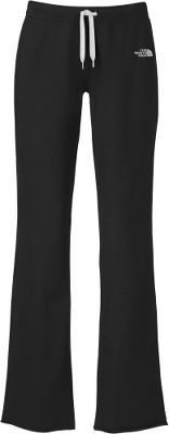 Cruise through the day in sporty style and soft stretchability. Easy to care for, these comfy pants feature eye-catching contrasting colors: an embroidered logo at the hip, stitching on side seams and a drawstring that exits through the grommets on the ribbed waistband. Design even accommodates boots. Crafted of 68% cotton, 28% polyester, 4% elastane stretch fleece. Machine washable. Imported. inseam: 33.Sizes: S-XL. Colors: Heather Grey, TNF Black. - $35.88
