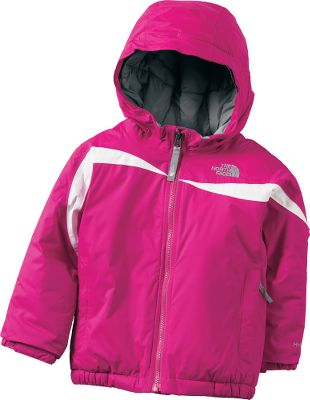 The North Face Toddler Girls Insulated Poquito Jacket is the perfect alpine jacket for making turns on the bunny slopes or making snowballs in the park. Its waterproof and breathable with fully sealed seams. Body and sleeves are insulated with 250-gram thermal Heatseeker Aero insulation to keep her warm. Silky taffeta lining makes for easy on and off. HyVent 2L treatment sheds rain and snow to keep your child dry. EZ Grow cuffs on the sleeves can be let out as she grows. Fixed hood and zippered handwarmer pockets. 100% nylon. Imported.Sizes: 2T-4T.Colors: Turquoise Blue, Passion Pink. Type: Jackets. Size: 2T. Color: Turquoise Blue. Size 2t. Color Turquoise Blue. - $89.88