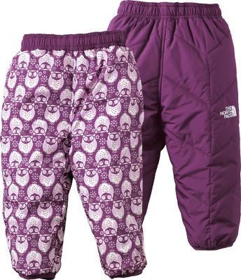 These reversible, insulated pants keep your baby warm wherever you are when the weather turns cold. The entire body is quilted with 120-gram Heatseeker Aero insulation that provides warmth with minimal bulk. Elastic binding on the cuffs and waistband keep body warmth closer, longer. One side features a playful print, while the other has a solid color. 100% polyester with a durable water-repellent finish. Imported.Sizes: 0-3 mo., 3-6 mo., 6-12 mo., 12-18 mo., 18-24 mo.Colors: Cosmic Blue, Passion Pink, Conifer Green, Jake Blue, Premiere Purple, Cha Cha Pink. Type: Pants. Size: 0-3 Months. Color: Cosmic Blue. Size 0-3 Month. Color Cosmic Blue. - $39.88