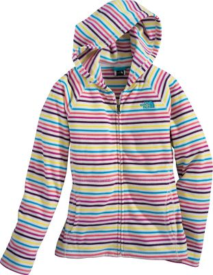 Vibrant stripes and an extremely durable, pill-resistant surface keep this hoodie looking great. Crafted of 9.35-oz. polyester fleece, this perfect-for-play hoodie provides lightweight warmth and excellent softness. Kangaroo-style handwarmer pockets comfort hands during chilly weather. Embroidered logo. Imported. Center back length for M: 21.5. Sizes: XS-XL. Color: TNF White Stripe. Type: Hoodies. Size: Large. Color: Tnf White Stripe. Size Large. Color Tnf White Stripe. - $39.99