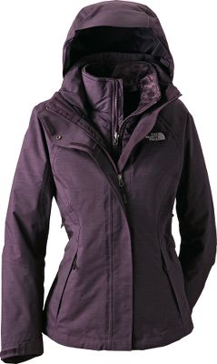 No matter the conditions or activity, this three-in-one-jacket offers premium protection, unsurpassed comfort and sporty style. In warm, wet weather, the nylon Hyvent shell keeps rain and wind out, yet is breathable so you stay dry inside. When temperatures drop, zip in the luxuriously warm liner that features Heatseeker insulation thats been thermal mapped to deliver just the right levels of protection where you need them most, while still providing a slim, comfortable fit. The shell is also loaded with technical features such as a fully adjustable, removable hood, pit-zip vents, full-zip front with Velcro-secured storm flap and zippered handwarmer pockets. Imported.Sizes: S-XL.Colors: TNF Black (not shown), Metallic Silver, Baroque Purple. - $199.88