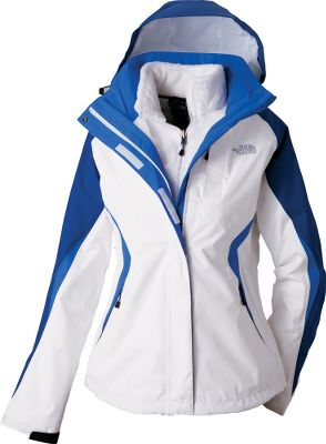 Conditions can quickly change, so be ready to adapt and overcome with this versatile three-in-one jacket. Seam-sealed HyVent shell is waterproof and breathable with pit-zip vents to help manage moisture and regulate body temperatures. The fully adjustable, removable hood features wraparound protection at the lower face. Full-zip front is backed with an internal storm flap to keep hard-driving rain from reaching the interior. When temperatures start dropping, zip in the soft, silken Triclimate fleece liner. Shell also features two secure zip handwarmer pockets and zippered Napoleon chest pocket. Liner is fitted with zippered handwarmer pockets. Imported.Sizes: S-2XL.Colors: Baroque Purple/Teaberry Pink, Vibrant Blue/Vibrant Blue/Bolt Blue, TNF White/Bolt Blue. - $199.88