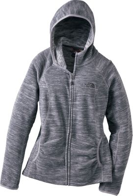 Camp and Hike The fluted stripes on this novelty fleece zip-up hoodie give you a sleek look while still keeping you warm. It provides warmth without bulk, and is warmer and lighter than traditional TKA 100 fleece. The high-breathability and quick-drying properties trap and maintain body heat, which makes it perfect for hiking, climbing and even getting around town. Theres even a media-friendly pocket and loop. Fleece is extremely soft and pill-resistant. Imported. - $49.88
