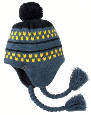 A classic Peruvian-style beanie with braided tassels and a playful pompom thats perfect for snowball throwing and snowflake catching. The extended earflaps keep little ears warm, and the fleece liner insulates your childs head for a coziness that will leave them forgetting its cold out and having fun instead. 100% acrylic; 100% polyester ear bands. Imported.Sizes: S, M.Colors: TNF Black, Conifer Green, Deep Water Blue. Type: Beanies. Size: Small. Color: Deep Water Blue. Size Small. Color Deep Water Blue. - $24.88