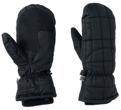 Ski Stylish, warm and versatile, these mittens feature cozy PrimaLoft insulation in the palms and 6-oz. Heatseeker insulation in the backs for toasty warmth in winter weather. The durable, ripstop shells have silicone grip patterns for easier handling of ski poles and other gear. The 5 Dimensional Fit fit is specialized just for womens hands, and Radiametric Articulation provides added dexterity in the fingers. A comfy, knit gasket keeps warmth in and the cold out by tucking neatly into your jacket sleeves. Weather-resistant palms. 100% nylon. Imported. Sizes: S-L. Colors: TNF Black, Vaporous Grey. - $39.88