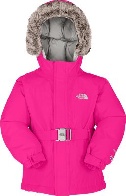 Rightly named after the worlds largest ice-covered island, this jacket is designed to keep your child dry and protected from the coldest winter conditions. HyVent 2L technology and fully sealed seams make this jacket waterproof and breathable, and 550-fill-power down insulation traps body heat to maintain warmth. Featuring a stylish, removable faux-fur trim, the fixed hood works with the soft, brushed collar lining to buffer wind and insulate the head. The inset belt has encased elastic in the back and a faux-metal buckle at the front. Welted zipper handwarmer pockets. 100% polyester. Imported.Sizes: 2T-4T.Color: Razzle Pink. - $111.99