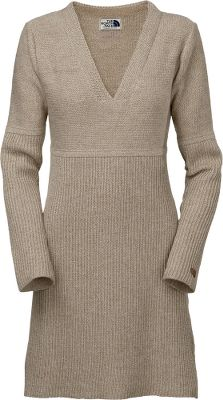 A premium wool-blend sweater dress ideal for layering on chilly fall days. The V-neck and empire waist add to its comfort and charm, and full-length sleeves keep you even warmer. 7-gauge, reverse-knit with 45/45/10 acrylic/alpaca wool/wool. Imported.Center back length for size Medium: 36.Center back length: 36.Sizes: S-XL.Colors: Charcoal Grey, Dune Beige Heather. - $69.88