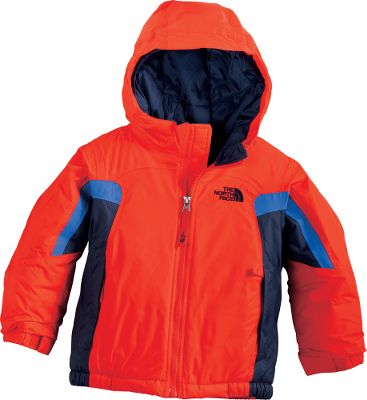 Your toddler is out of bounds when it comes to cold and wet weather when hes clad in this The North Face Jacket. Waterproof, breathable and seam sealed to keep him warm and dry. 250-Gram Heetseeker Aero insulation in the body and 160-Gram in the sleeves keeps your child cozy. HyVent 2L 100% nylon shell, and 100% nylon taffeta lining. EZ Grow cuffs at the sleeves allow you to extend them as your child grows. Adjustable cuff tabs with Velcro closures. Handwarmer pockets. Fixed hood. Glove clip. ID label. Imported.Sizes: 2T, 3T, 4T.Colors: Jake Blue, Glo Green, Fiery Red, Nautical Blue, Flashlight Green. Type: Jackets. Size: 2T. Color: Nautical Blue. Size 2t. Color Nautical Blue. - $74.99