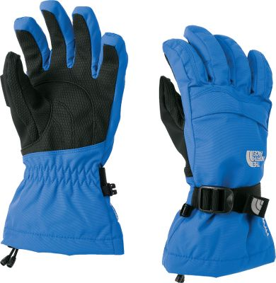 The perfect gloves for boys who love to be active in the snow. The North Faces Boys Montana Gloves have a youth-specific 5 Dimensional Fit. Radiametric Articulation ensures a firm grip. 100% nylon HyVent 2L shells with brushed-tricot linings. Waterproof and breathable with warmth assured by 100-gram Heatseeker insulation and fourchette-box finger construction. Zippered pocket on backs of the hands. Storm Door cuff gaskets keep snow out. Imported. Sizes: S-L. Color: TNF Black, Forest Night Green (not shown). Size: SMALL. Color: Forest Night Green. Gender: Female. Age Group: Kids. Material: Nylon. - $50.00