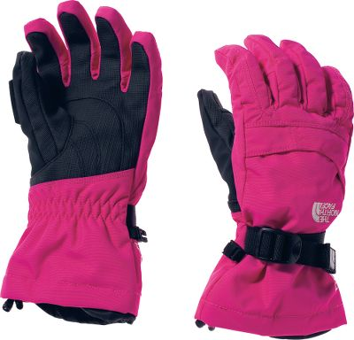 Motorsports All-around alpine gloves that offer warmth, comfort and a youth-specific 5 Dimensional Fit. The North Face Girls Montana Gloves waterproof, breathable HyVent 2L fox-faille shells block winter moisture, while 100-gram Heatseeker insulation lines the palms and back of hands for heat-trapping warmth. Radiametric Articulation for improved dexterity. Storm Door cuff gaskets block out cold. Warm, fourchette-box finger construction. Zippered pockets on the back of the hands. Imported.Sizes: S-L.Colors: North Face Black, TNF Black. Type: Gloves. Size: Medium. Color: Tnf Black. Size Medium. Color Tnf Black. - $39.88