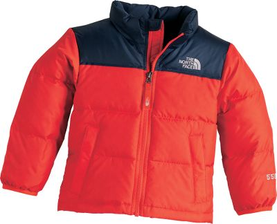 The down-insulated classic, scaled down for kids. The generous layer of 550-fill-power goose-down insulation packs warmth close to the body. Sewn-through construction with reinforced stitching in high-stress areas for durability. Durable water-repellent finish on exterior. Jacket stuffs into interior chest pocket for easy packing. Two zippered handwarmer pockets. EZ Zip front zipper. Zip-in compatible. 100% polyester fabric. Imported. Sizes: 2T, 3T, 4T. Colors: Fiery Red, Jake Blue, Glo Green. - $62.88