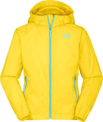 Keep her stylish and dry in wet conditions. Crafted of 100% nylon ripstop fabric and coated with TNFs durable water-repellent finish, this hoodie dries quickly and resists tears. Zippered hand pockets and fixed hood. Elastic sleeve cuffs, waist sides and hood. Jacket can be stowed in hand pocket for compact storage. Imported.Sizes: XS-XL.Colors: Turquoise Blue, Linaria Pink, Mojito Green, Bonnie Blue, Magic Magenta, Society Pink, Voltage Yellow. - $34.88