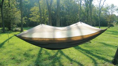Camp and Hike Annoying biting pests dont have a chance of getting to you in this travel hammock. A layer of extremely fine mosquito netting keeps out pests, including mosquitoes, No-See-Ums and black flies. Since it packs down so small, it is ideal to take along on your camping trips for everything from an afternoon power nap, to a full nights slumber. A double-sided zipper runs the length of the hammock for easy entry and exit. The quick-drying nylon fabric is mildew-resistant. Two pockets on the interior of the hammock store glasses, a flashlight or anything else you need to keep close. Includes hanging kit and net suspension kit with two 20-ft. pieces of cord. Fits inside the attached stuff sack for convenient carry. Wt: 30 oz. Capacity: 400 lbs. 106 x 5. Color: Black. - $79.99