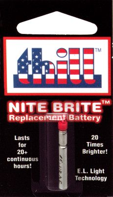 Fishing The replacement light battery is a one piece unit designed for use in the Nite-Brite bobber. Colors: Red, Green, Yellow. Color: Yellow. Gender: Male. Age Group: Adult. Type: Batteries. - $4.99