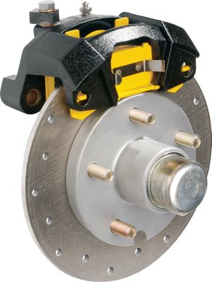 Motorsports Adding precision control to your trailering travels, this assembly brakes smoothly and in sync with your motor vehicle. The G5 design boasts a single-piston aluminum caliper, patented aluminum/stainless steel piston, stainless steel rotor with fast-cooling venting holes, oil-impregnated bronze bushings, ceramic pads with stainless steel backing plates and a GalvX-coated hub. Factory-installed stainless steel slider pins, bearings, grease and seals. Galvanized mounting bracket included. Per each. - $150.88
