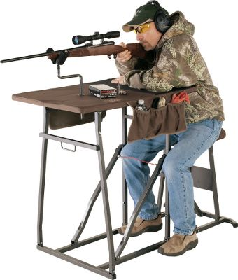 Engineered to accommodate larger shooters, the Timber Ridge XL offers the same sturdy construction and fast set-up time as the standard model but with more room. Easy to deploy, you simply unfold the sections and they automatically lock in place. The thick foam padded seat ensures comfort. The 22-12W x 33-12L top and neoprene elbow rest provide ample space. A heavy-duty, fully adjustable gunrest accommodates left- and right-handed shooters. Fabric components are waterproof, UV-resistant and soft. Frame and legs are corrosion-resistant powder-coated steel. Folds flat for easy storage. Carry bag included. Imported.Weight: 38 lbs. Weight capacity: 350 lbs. Dimensions: 43-1/2L x 23W x 36H set up, 59-12L x 23W x 8H folded up. Type: Benches. Type: Rests. - $129.88