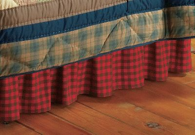 Fitness Complement your country look with a buffalo-check bed skirt. Buffalo-check fabric is 100% cotton featuring a 14 drop with split corners. Platform is 90/10 polyester/cotton. Machine wash cold, gentle cycle. Imported. Available: Twin (39 x 76 x 14), Full (54 x 76 x 14), Queen (60 x 80 x 14), King (78 x 80 x 14). Size: FULL. Type: Bed Skirts. - $49.99