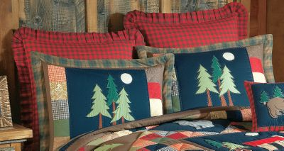 Fitness Outfit your bedroom with the rustic look and feel of this cotton quilt bedding. Hand-stitched pine trees accent the attractive colors and plaids. Machine wash cold, gentle cycle. Per each. Imported. 20 x 26. Type: Pillow Cases & Shams. - $39.99