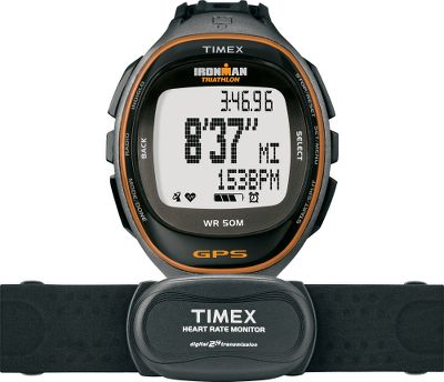 Fitness Train like an Ironman wearing a do-it-all watch with heart rate monitor, GPS and a wealth of features. Highlights include 15-workout memory (1,000 laps maximum); five programmable interval timers; variable-intensity interval training and hydration, recovery and nutrition timers. Internal GPS ispowered by SiRFstarIV for increased battery efficiency; battery lasts up to nine hours in GPSmode. Compatible with ANT+ heart-rate and foot-pod sensors. Water-resistant to 50 meters Includes USB cable for downloads and recharging. - $172.49