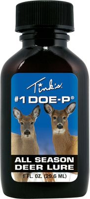 Hunting Tink's Doe-P simulates the smell of a new doe, luring in both bucks and does. 100% doe urine. 1 oz. Type: Lures/Attractants. - $5.88