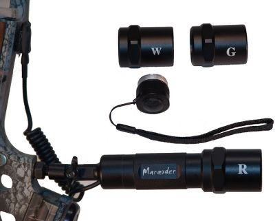 "Hunting The adventure is just beginning when the sun goes down. The Marauder Lighting System provides the hunter with the ultimate nighttime aid, light! Designed for hunting feral hogs in Texas, the Marauder is now used across the U.S. and globally on hogs, predators, varmints and fish. The red and green heads produce 68 and 88 lumens respectively, enough to see well beyond 30 yds. at night. A remote tactical switch mounts in the most convenient location on your bow or rifle so you can activate the light when you're ready. The 110 lumen white light coupled with the standard tail-cap switch provides a premium-quality flashlight that outperforms most others. A built-in swivel gives you options for positioning. Operates on three AAA batteries (not included). Weight (with batteries): 6.5 oz. Length: 7"". Type: Bowfishing Lights. Size Hog Lite. - $141.99"