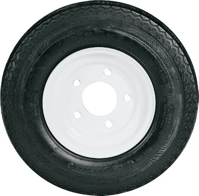 Motorsports If your trailer tires have reached the end of their road, make sure you replace them with these reliable and affordable tires from Tow Master. Standard White or Standard Galvanized Mag wheel tires are available in a wide range of sizes. Their durable, weather-resistant, long-wearing, bias-ply construction meets D.O.T. specifications. Available: Standard White, Standard Galvanized (not shown). Nebraska residents add $1.00 per tire for state tax. Color: White. Type: Tires/Standard Wheel. - $32.88