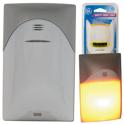 Keep little fingers safe with this cool-burning Automatic Safety Night Light. Mounts directly over the outlet plate, preventing direct access. Fully enclosed, 4-watt light bulb with three-year warranty (included). Not for use with duplex receptacles with center-screw wall plate mounting. For use with plastic wall plates only.Dimensions: 4.25L x 2.5W x 2.5H. Weight: 0.35 oz. - $9.99