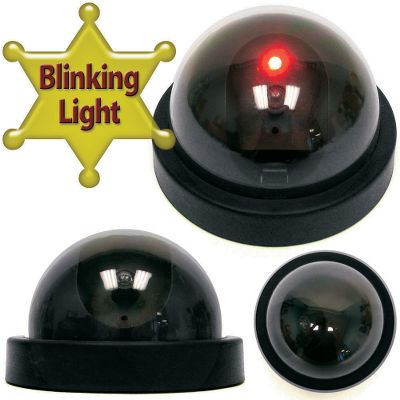 Ultrarealistic, Replica Dome Light provides an easy, cost-effective solution to prevent crime at your home, office or retail location. A flashing LED light adds extra realism. Completely wireless, it runs on two AA batteries (not included). Includes installation screws. Per each.Dimensions: 3L x 4.6W x 4.63H. Weight: 0.35 oz. Type: Home Security. - $19.99