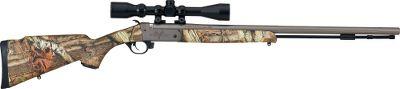 Hunting Own one of the lightest muzzleloaders ever built. This full-featured muzzleloader will exceed your expectations for performance and price. The Speed Load System ensures easier bullet loading and tighter groups. The toolless Accelerator Breech Plug removes in three full rotations. Scoped combo includes a factory-installed and boresighted Traditions 3-9x40mm muzzleloader scope with illuminated rangefinding reticle. Available: .50 caliber.Barrel Length: 26.Overall Length: 42.Weight: 5.15 lbs. Finish: Premium CeraKote/Mossy Oak Break-Up Infinity. - $379.88