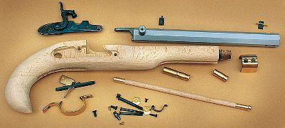 Build a replica antique Kentucky black-powder pistol with this easy-to-assemble, do-it-yourself kit. The finished pistol shoots a .50-caliber patch and ball through a 10 octagonal barrel. Adjustable rear sight with a fixed-blade front sight. Double-set triggers. Authentic wooden ramrod. Select hardwood stock. Percussion cap ignition.Barrel length: 10.Overall length: 15.Weight: 2 lbs. 12 oz.Rate of twist: 1 in 16. - $149.88