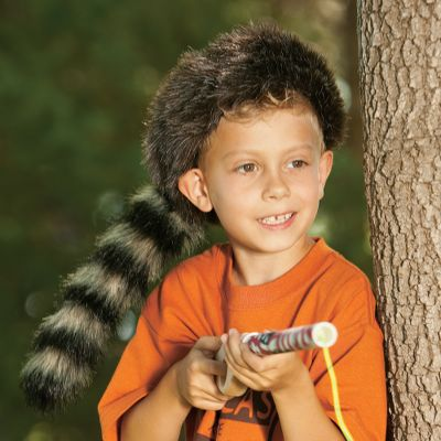Your youngster will bring the adventures of Davy Crockett to life in this realistic, pioneer-style Coon Skin Cap. Synthetic faux fur made of polyester. Imported. One size fits most. Ages 3+. Size: One Size. Gender: Unisex. Age Group: Kids. Material: Polyester. - $4.88