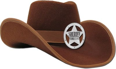 Theres a new sheriff in town! Made of high-quality felt and proudly boasting a shining, chromed sheriffs badge, your little cowboy will look and feel the part in this hat. One size fits most. Imported. 14L x 11W x 6.5H. Color: Pink. Size: One Size. Color: Pink. Gender: Female. Age Group: Kids. - $4.88