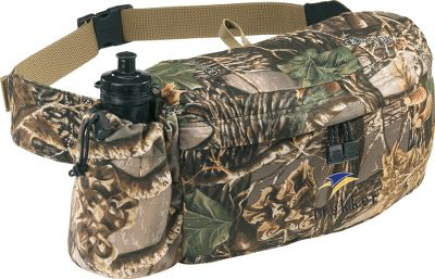 Hunting There is 350 cu. in. of carrying capacity in the main compartment. Water bottle (included) is secured by elastic cord with lock. Key fob inside the main compartment. This pack offers durability and function at a great value. Its constructed of quiet and durable CT450 a high-count tricot with a low-nap finish, backed with polyurethane lamination for water repellency. Imported.Dimensions: 14-1/2L x 4-1/2W x 6-1/2D.Camo pattern: Mossy Oak Break-Up. - $14.88