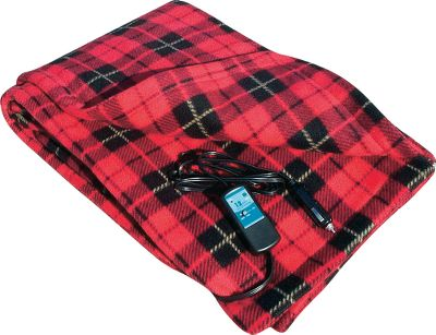 Motorsports Whether its for a roadside emergency or extra comfort when on the road, this handy electric blanket is just what you need for cold-weather traveling. Preset temperature control maintains warmth to just the right comfort level. Inline timer has 30- and 45-minute selector switch. Made of plush, warm polyester Polarfleece, the travel blanket not only produces heat, but also gives you an extra layer of protection from the cold. And at 42 x 58, its large enough to keep you completely covered. The 8-ft. power cord is long enough to reach your vehicles back seat or to a bed in your RV or camper. Imported. Colors: Navy, Plaid. Color: Navy. Type: Interior Accessories. - $39.99