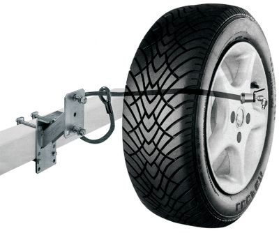 Motorsports Protect your spare tire from would-be thieves. This 12mm TRIMAFLEX braided steel cable loops through the frame of your trailer or automobile frame and locks through the wheel lug nut hole, so the entire assembly is hidden from view and difficult to tamper with. Not only does this lock protect your spare from being removed from its bracket, it also prevents the bracket from being swiped from the frame. It includes two keys, so you're never stuck on the side of the road with a perfectly good spare that you cannot remove from the trailer. Length: 36 . Type: Cable Lock. - $16.99