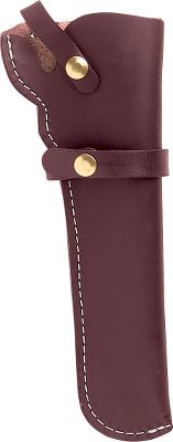 Triple K Leather Holster protects revolvers and keeps them easily accessible. A sturdy strap retains your firearm. Fits full size 1858 Remington Style revolvers with up to 8 barrels. Available: Right Hand, Left Hand. Color: Dark Brown. Size: RH. Color: Dark Brown. - $27.99