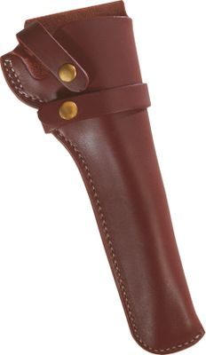 The original design of this holster protects revolvers and keeps them easily accessible. A sturdy strap retains your firearm. Fits full size Walker style revolvers with up to 9 barrels. Color: Dark brown. Available: Right hand. Size: RH. Color: Dark brown. - $29.99