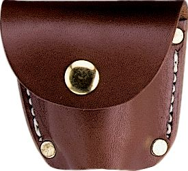 The Leather Belt-Style Cylinder Pouch is great for keeping track of your spare revolver cylinder. Constructed of heavy full grain leather. Fits the Civil War belt, or any other 2 width belt. Formed leather is open at the bottom. Size: 3-1/8H x 3-3/16W x 1-3/8D. Available colors: U.S. Black or C.S. Brown. Color: Black. - $24.99