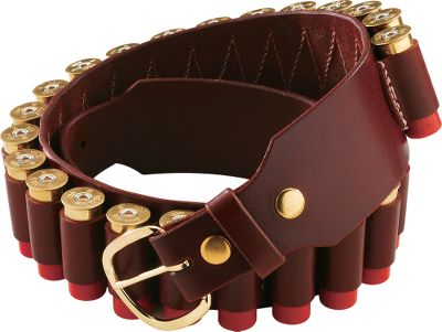 Hunting Top-grain cowhide shotgun shell belt features 25 shell loops, allowing you to easily carry a complete box of shells at your waist. Oil-finished heavy saddle leather creates the durability and ruggedness demanded of hunting gear. The belt is 2-1/2 wide with a 1-1/2 buckle and is made for 12-gauge shells only. Sizes: M(32 -37 ), L(35 -40 ), XL(40 -45 ). Type: Shotshell Belt. - $64.99