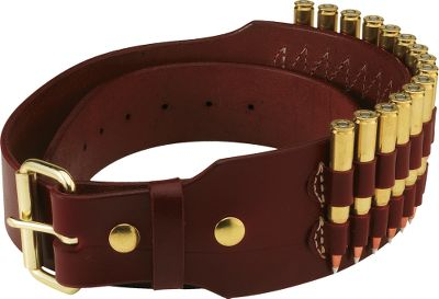 Hunting Top-quality leather belt with oiled walnut finish. This well designed belt holds 15 rifle cartridges in popular calibers. Reduced width of belt permits wearer to carry other needed accessories such as a knife sheath, multi-tool etc. Sizes: M(32 -37 ), L(35 -40 ), XL(40 -45 ). Color: Walnut. - $59.99