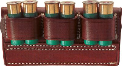 This shotshell carrier fits on any belt up to 2-1/4 and holds six 12-gauge shells spaced for quick removal of two at a time. Top-grain leather. Made in USA. Gender: Male. Age Group: Kids. Type: Belts. - $19.99